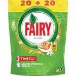 Detergent tablete masina spalat vase Fairy All in One Orange 40 buc 540 g