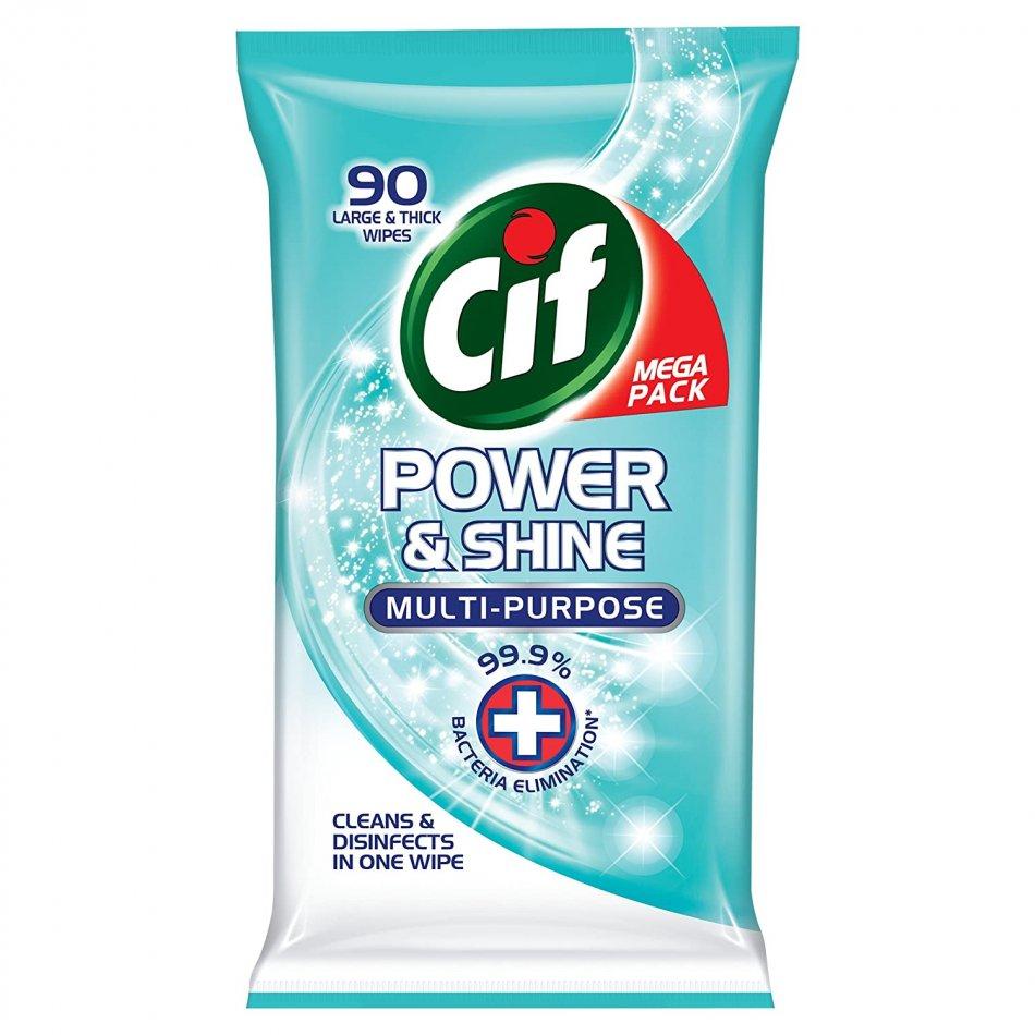 Servetele umede antibacterine Cif Multi-purpose Power & Shine 90 buc