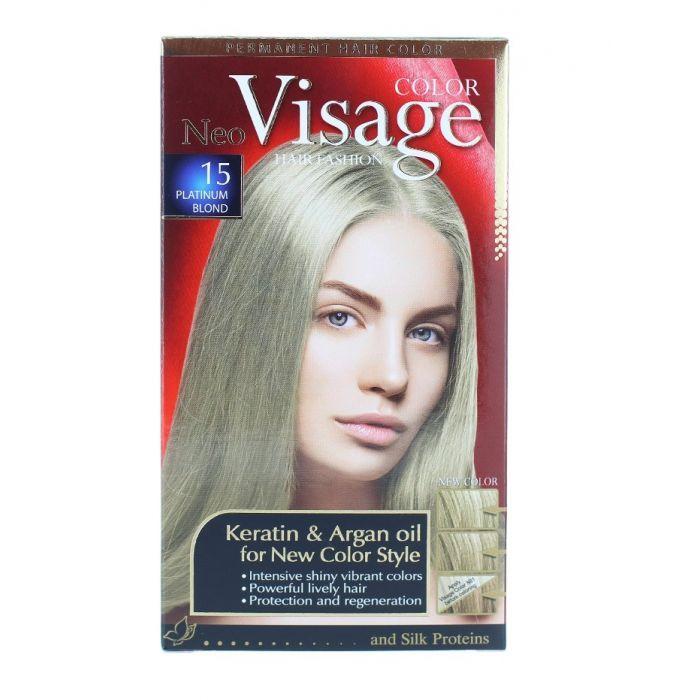 Vopsea de par permanenta 15 Platinum Blond Visage