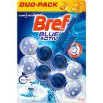 Odorizant toaleta Bref Blue Activ Hygiene Blue Water 2 x 50 g