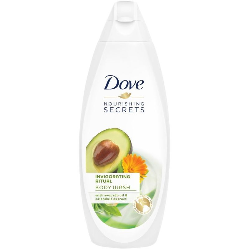 Gel de dus 0% sulfati Dove Invigorating Avocado Oil & Calendula Extract 250 ml