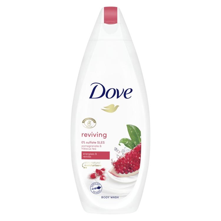 Gel de dus 0% sulfati Dove Reviving Pomegranate & Hibiscus Tea 250 ml