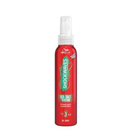 Gel spray cu apa de mare pentru texturare  Wella ShockWaves 150 ml