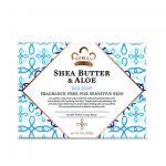 Sapun solid pentru piele sensibila, fara parfum, Nubian Shea Butter & Aloe 142 g