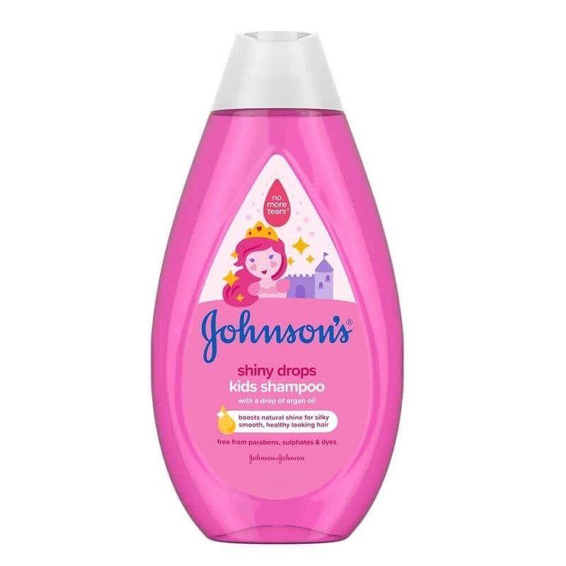 Johnsons Shiny Drops sampon cu ulei de argan pentru copii 300 ml