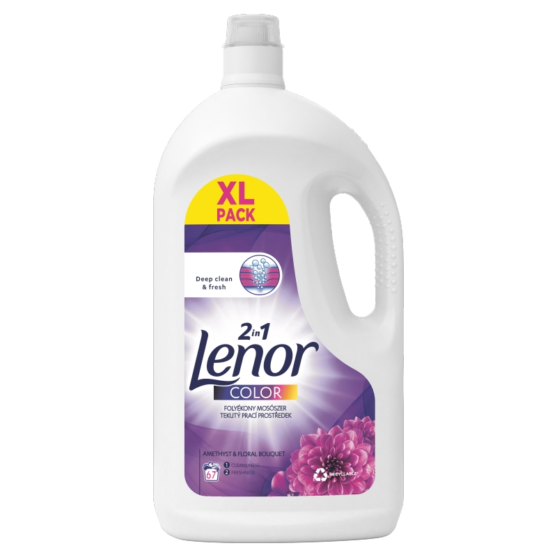 Detergent lichid color Lenor 2in1 Amethyst & Floral Bouquet 67 spalari 3685 ml