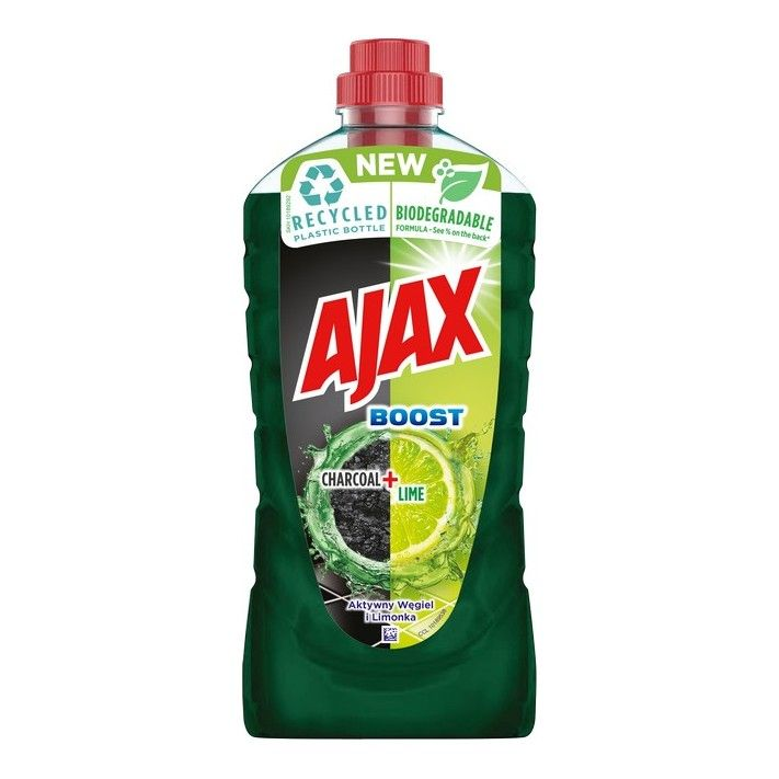 Solutie de curatare universala Ajax Boost Charcoal + Lime 1 L