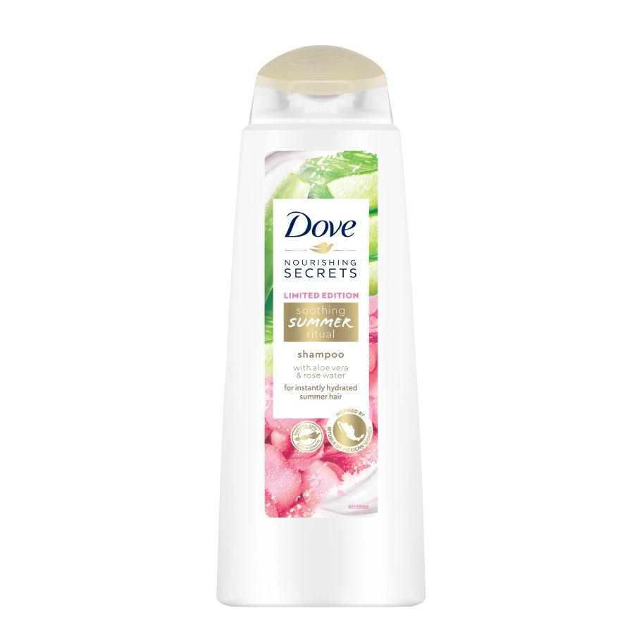 Sampon pentru par uscat Dove Summer Ritual aloe vera & rose water 400 ml