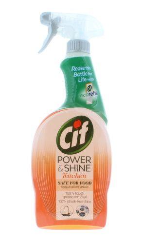 Solutie de curatat bucataria spray Cif Power & Shine Kitchen Safe For Food 700 ml