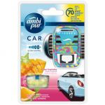 Odorizant auto Ambi Pur Car Ultra Control Tropical Fruits aparat + rezerva 70 zile 7 ml