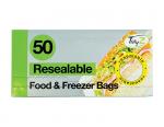 Pungi resigilabile pentru congelator/ sandvici Tidy Z resealable Food & Freezer Bags, 50 buc