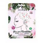 Masca de par tip foaie, Derma V10, Hair Sheet Mask, Marula Oil