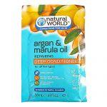 Balsam tratament de par reparator Argan & Marula oil Deep Conditioner Natural World 50 ml