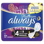 Absorbante igienice externe Always Platinum nr.4 secure night 5 buc