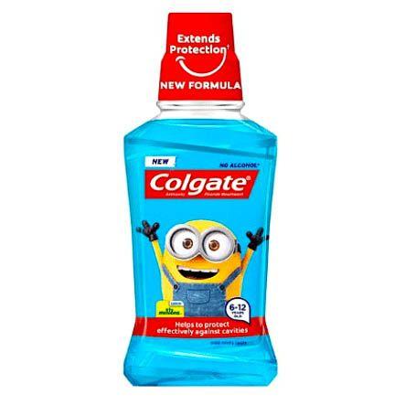 Apa de gura pentru copii 6-12 ani Colgate Minions 250 ml