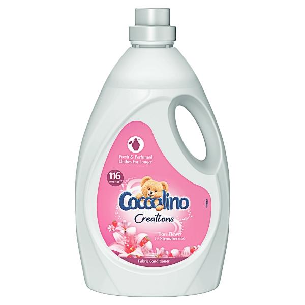 Balsam de rufe concentrat Coccolino Creations Tiare Flower & Strawberries 116 spalari 2900 ml