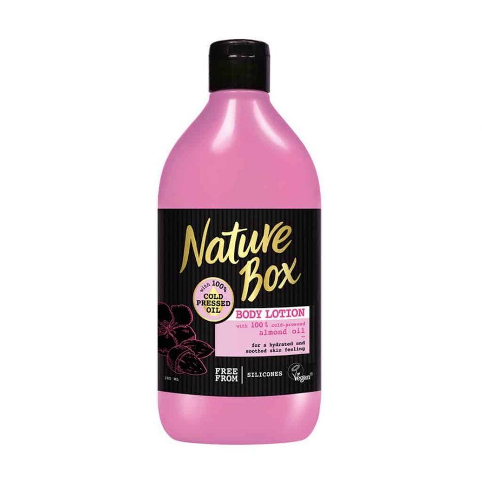 Lotiune de corp pentru piele delicata cu ulei de migdale Nature Box 385 ml