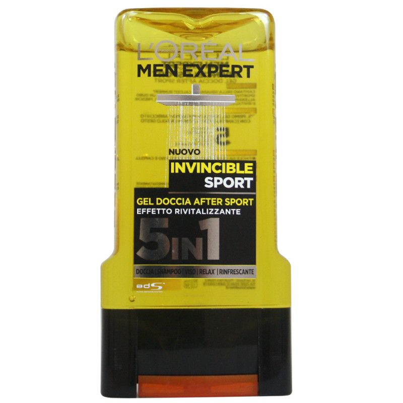 Gel de dus L'Oreal Men Expert Invincible Sport Gel Doccia After Sport 5in1 300 ml
