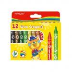 Creioane cerate 12 culori  11 mm Keyroad Wax Crayons