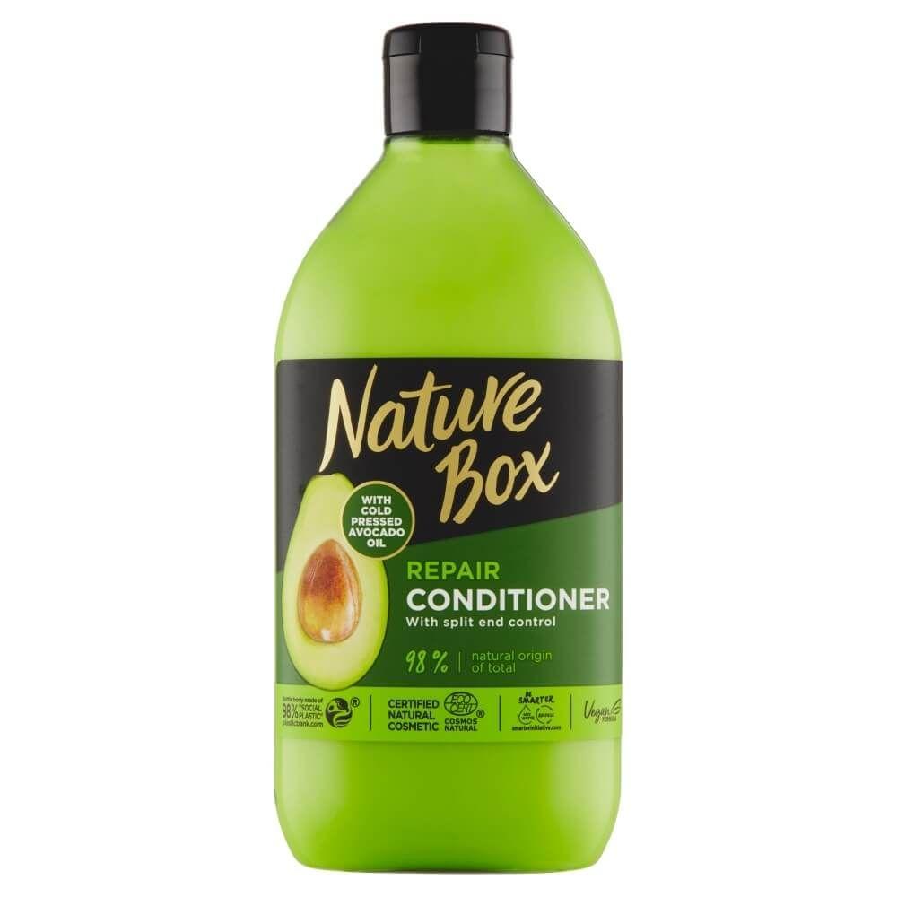 Basam pentru par degradat cu ulei de avocado Nature Box 385 ml