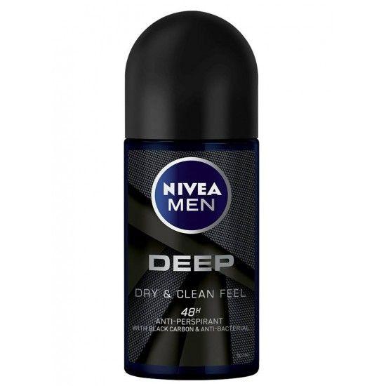 Deodorant antitranspirant rollon Nivea Men Deep Black Carbon Darkwood 50 ml