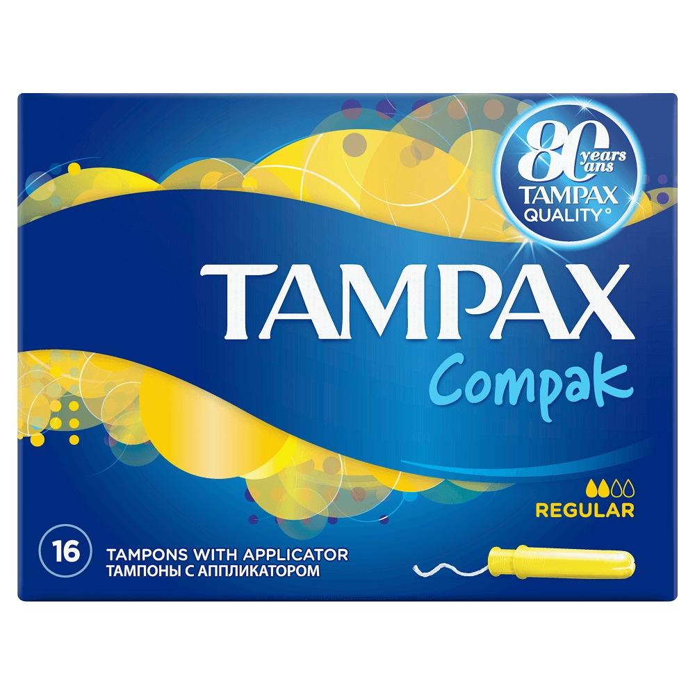 Tampoane Tampax Compak Super cu aplicator Protective Skirt 16 buc