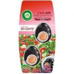 Odorizant auto Air Wick Clip Fresh Berries 60 zile 2 x 2.5 ml