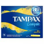 Tampoane Tampax Compak cu aplicator Protective Skirt 16 buc Super