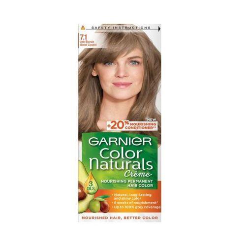 Vopsea de par permanenta 7.1 Blond Cenusiu Garnier Color Naturals