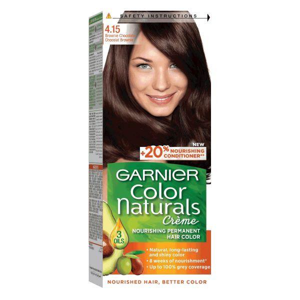 Vopsea de par permanenta 4.15 Ciocolata Amaruie Garnier Color Naturals