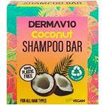 Sampon solid pentru toate tipurile de par Derma V10 Coconut Shampoo Bar 50 g