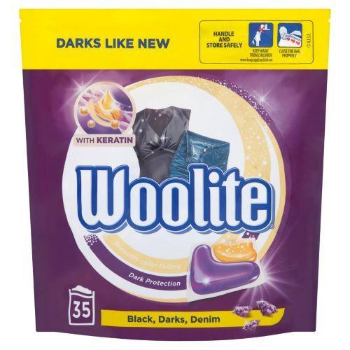 Detergent capsule pentru rufe negre Woolite BlackDarksDenim 35 buc 770 g