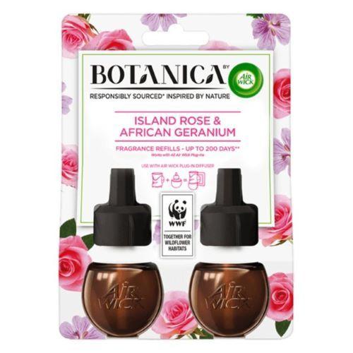Rezerva de parfum odorizant electric Air Wick Botanica Island Rose  African Geranium 2 x 19 ml