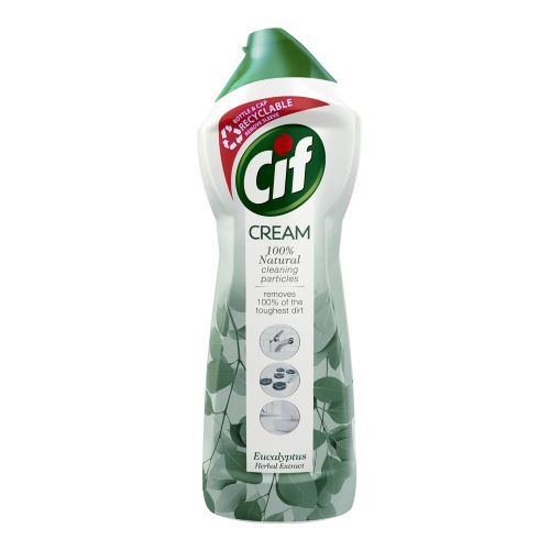 Solutie crema de curatat universala Cif Cream Eucalyptus Herbal Extract 750 ml