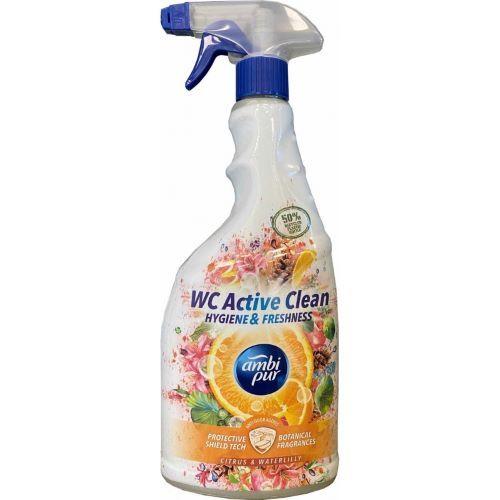 Solutie curatare vasul de toaleta spray Ambi Pur Wc Active Clean Citrus  Waterlilly 750 ml