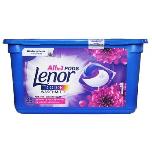 Detergent capsule Lenor All in 1 Pods Color Waschmittel Amethyst Blutentraum 35 buc 878.5 g