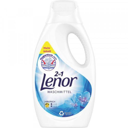 Detergent lichid universal Lenor 2 in 1 Waschmittel Aprilfrisch 21 spalari 1155 ml
