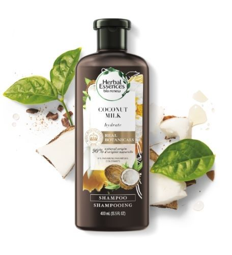 Sampon hidratant pentru par Coconut Milk Herbal Essences Pure 250 ml