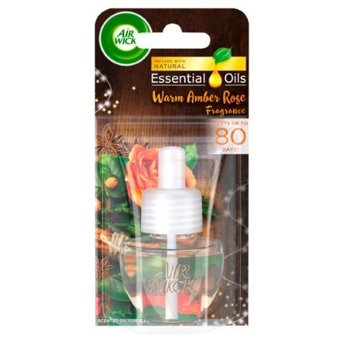 Rezerva odorizant de camera electric Air Wick Essential Oils Warm Amber Rose 19 ml