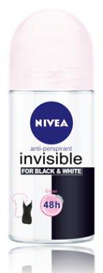 Nivea Invisible for Black&White Clear deodorant roll-on 50ml