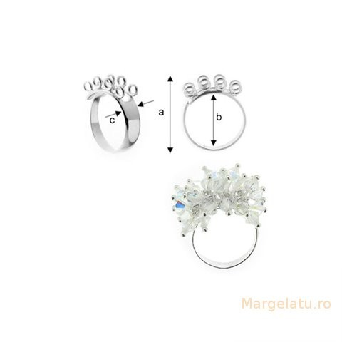 Baza inel,argint 925 marcat  cod AG002
