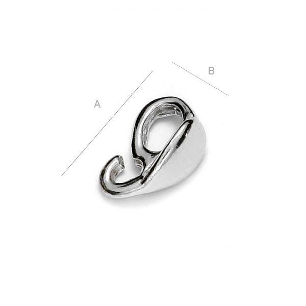 agatatoare pandant ,8 mm argint 925