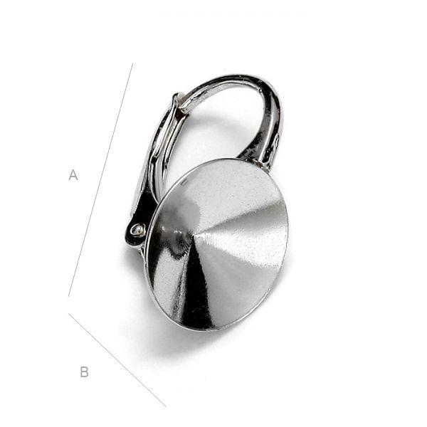 Tortita ,leverback argint 925 , pentru 1122 10 mm