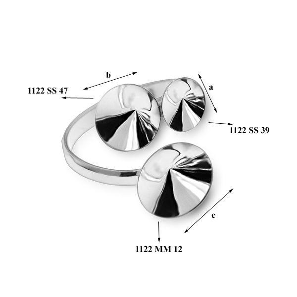 Baza inel,argint 925 , pentru swarovski 1122