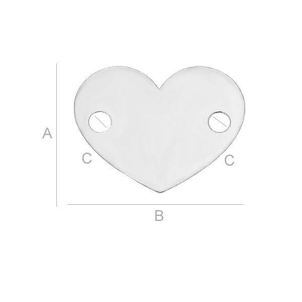 Pandativ  inima ,AG .925 10*12 mm