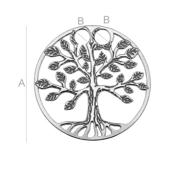 Pandantiv pomul vietii, AG .925 17*2.20 mm