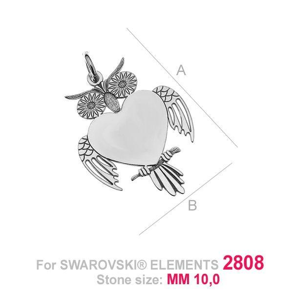 Pandantiv,AG .925 19*12.50 mm