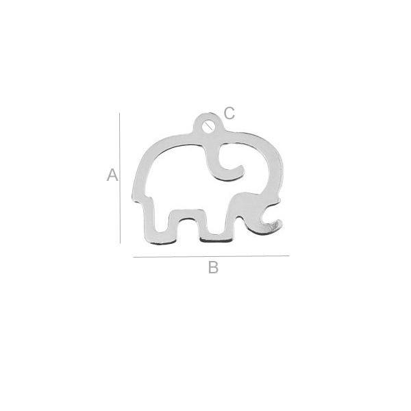 Pandantiv ,AG .925 14.10*15.80 mm 0.34 g