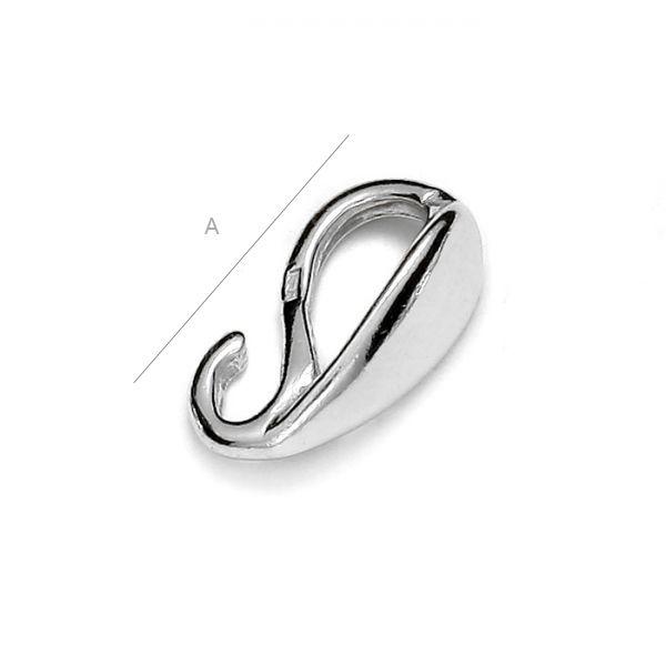 Agatatoare pandant ,11 mm argint 925