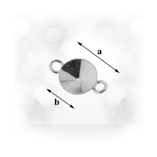Link  argint 925, a13,00 mm b 8,00 mm pentru swarovski 1122